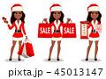 クリスマス 女 女性のイラスト 45013147