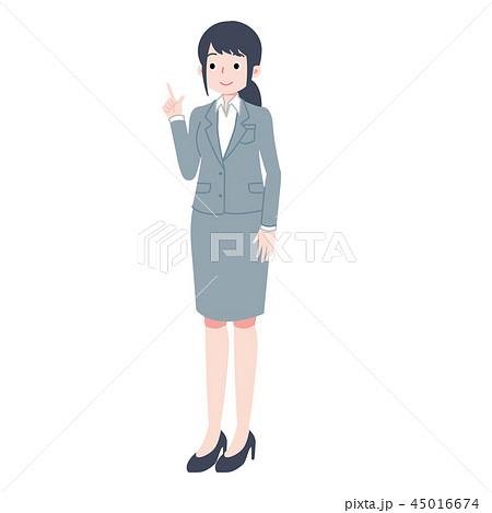 人指し指を立てる女性 45016674
