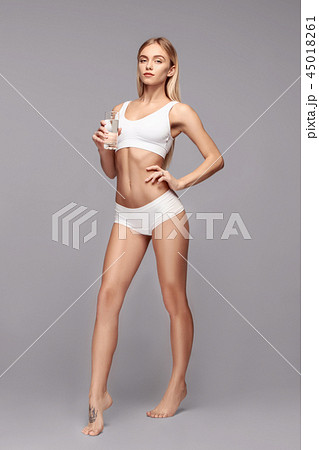 Perfect slim toned young body of the girl . 45018261