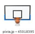 バスケ バスケットボール ボールのイラスト 45018395