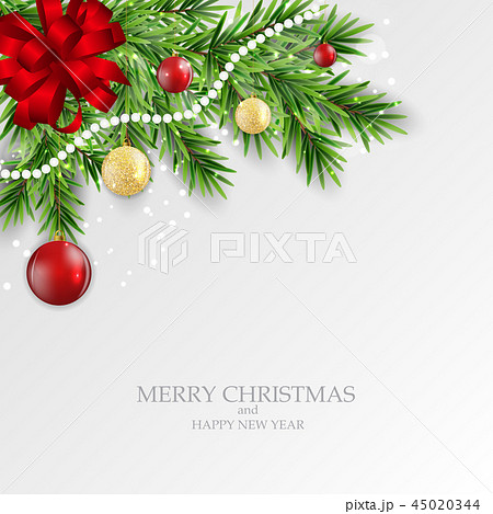Abstract Holiday New Year and Merry Christmas Background. Vector Illustration 45020344