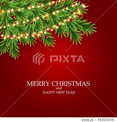 Abstract Holiday New Year and Merry Christmas Background. Vector Illustration  45020348