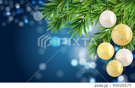 Abstract Holiday New Year and Merry Christmas Background. Vector Illustration 45020375