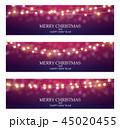 クリスマス あかり ライトのイラスト 45020455