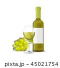 ベクター お酒 ぶどう酒のイラスト 45021754