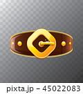ベルト バックル 金のイラスト 45022083