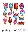 アイスクリーム 食 料理のイラスト 45023178