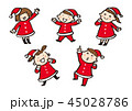 サンタの服を着た子供 45028786