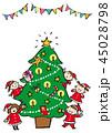 クリスマスツリー 45028798