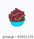 カップケーキ 食 料理のイラスト 45031174