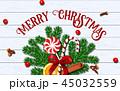 メリー・クリスマス キャンディケイン シナモンのイラスト 45032559