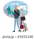 海外旅行にいく シニア イラスト 45033186