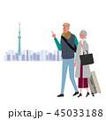 観光をする シニア スカイツリー イラスト 45033188