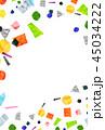 水彩 テクスチャー フレームのイラスト 45034222