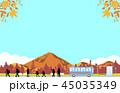 バス ハイキング 紅葉のイラスト 45035349