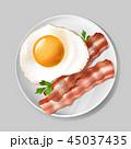 ベーコン 食 料理のイラスト 45037435