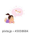 女の子 女児 女子のイラスト 45038684