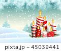 キャンドル クリスマス ベクトルのイラスト 45039441