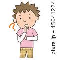 男の子 子供 ベクターのイラスト 45041224