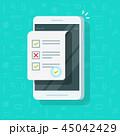 携帯電話 チェックリスト 選択のイラスト 45042429