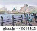 横浜港 釣り人 45043313