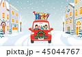 クリスマス 車 家族のイラスト 45044767