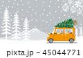 クリスマス 車 老夫婦のイラスト 45044771