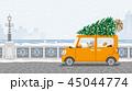 クリスマス 車 老夫婦のイラスト 45044774