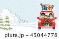 クリスマス 車 家族のイラスト 45044778