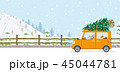 クリスマス 車 クリスマスツリーのイラスト 45044781