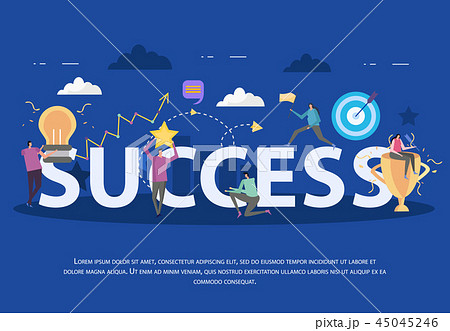 Success Flat Background Composition 45045246