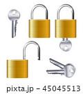 南京錠 錠 組み合わせのイラスト 45045513