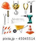 工事 建設 セットのイラスト 45045514