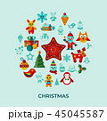 クリスマス 休日 ベクターのイラスト 45045587