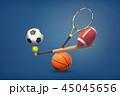 ベースボール 白球 野球のイラスト 45045656