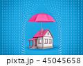 保護 住宅 住居のイラスト 45045658