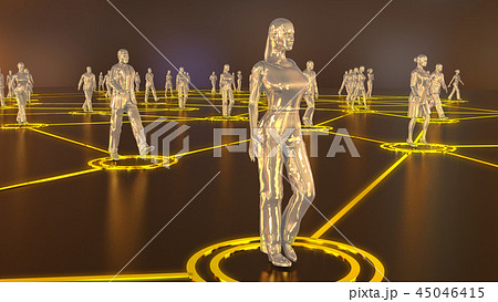 3D rendering with social communication and network 45046415