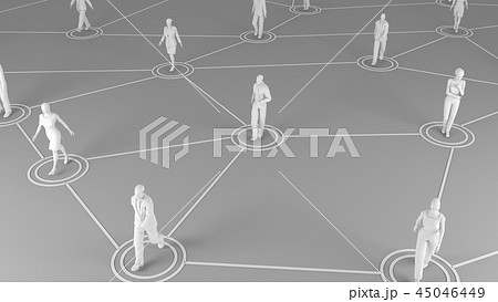 3D rendering with social communication and network 45046449