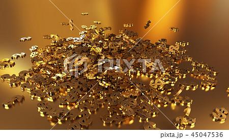 3d rendering of falling signs of dollars 45047536