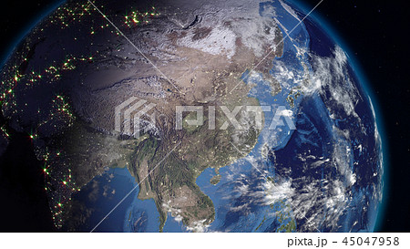 3D rendering of the planet Earth from space 45047958
