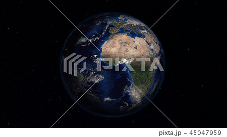 3D rendering of the planet Earth from space 45047959