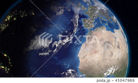 3D rendering of the planet Earth from space 45047969