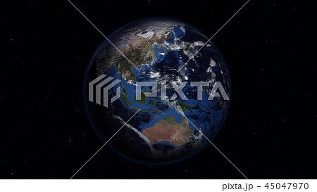 3D rendering of the planet Earth from space 45047970