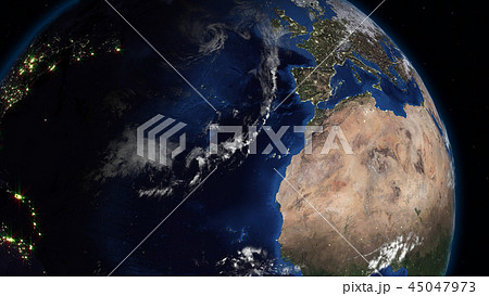 3D rendering of the planet Earth from space 45047973
