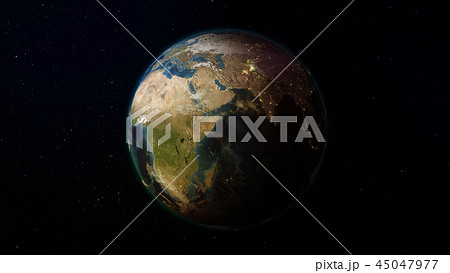 3D rendering of the planet Earth from space 45047977