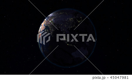 3D rendering of the planet Earth from space 45047981