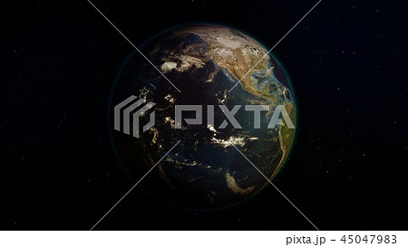 3D rendering of the planet Earth from space 45047983