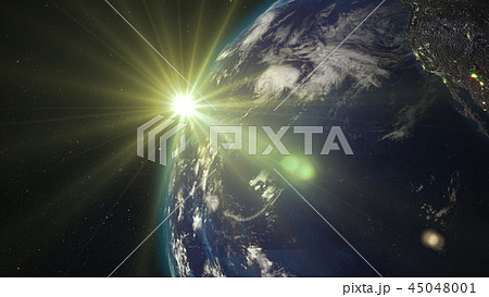 3D rendering of the planet Earth from space 45048001
