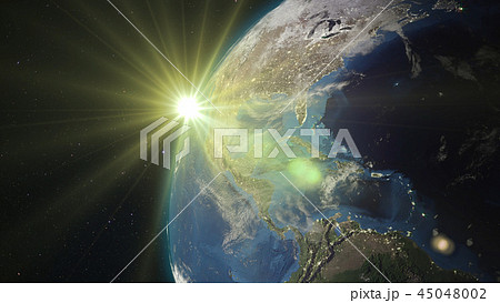 3D rendering of the planet Earth from space 45048002