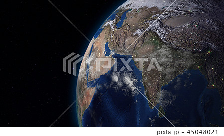 3D rendering of the planet Earth from space 45048021